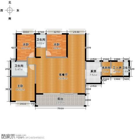 仁和春天国际花园4室2厅3卫0厨166.00㎡户型图