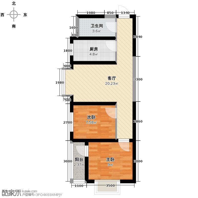 美寓华庭三期高新尚居56.16㎡美寓华庭户型10室