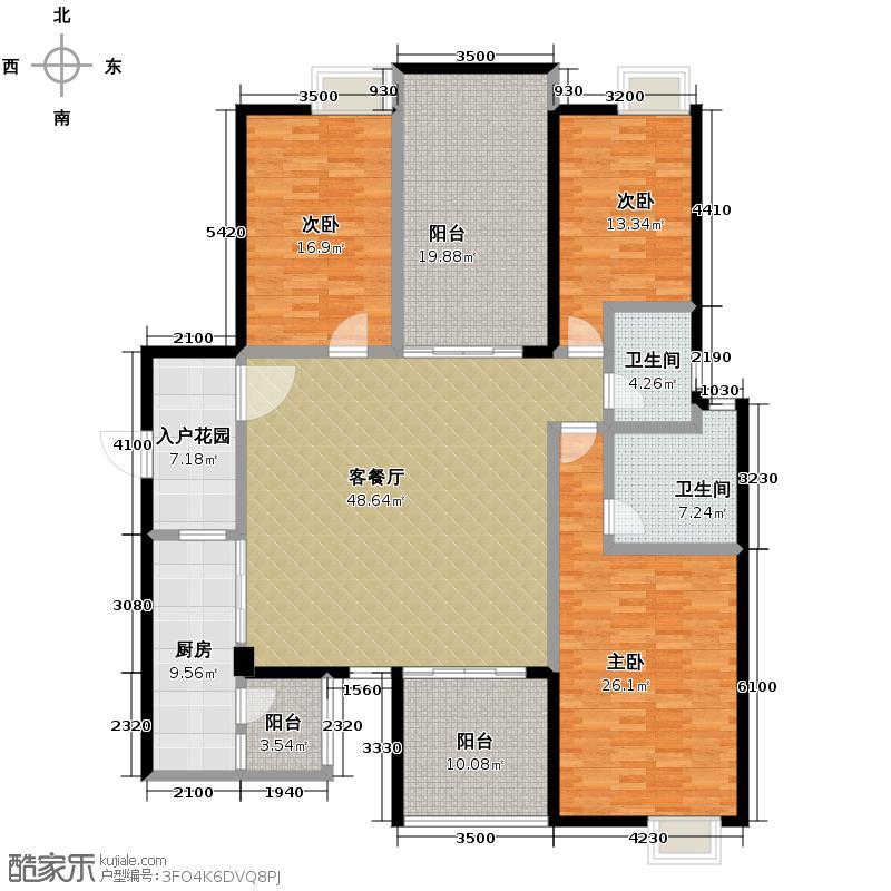 碧桂园豪庭114.00㎡J74北二楼六街7号三、四、六、八、十、十二、十四、十六、十八层04单元户型3室2厅2卫