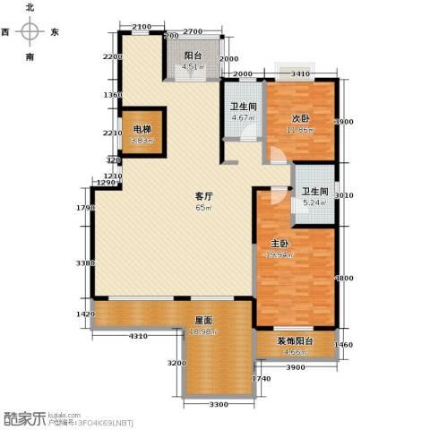 沽上江南2室2厅2卫0厨154.35㎡户型图