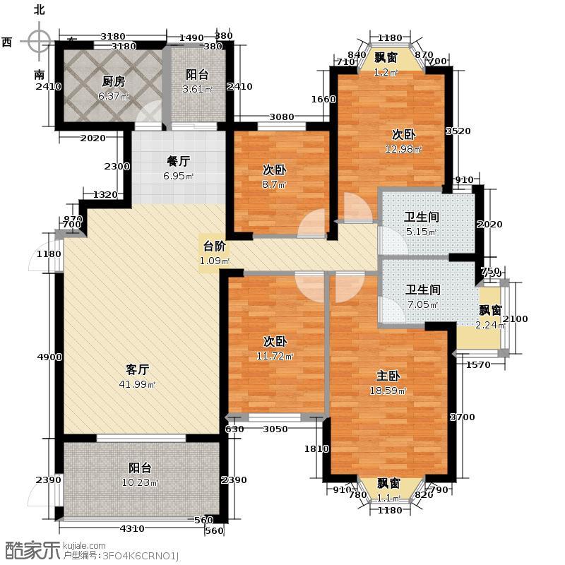 东方名城162.18㎡19#20#楼01单元V22-16层平面户型10室