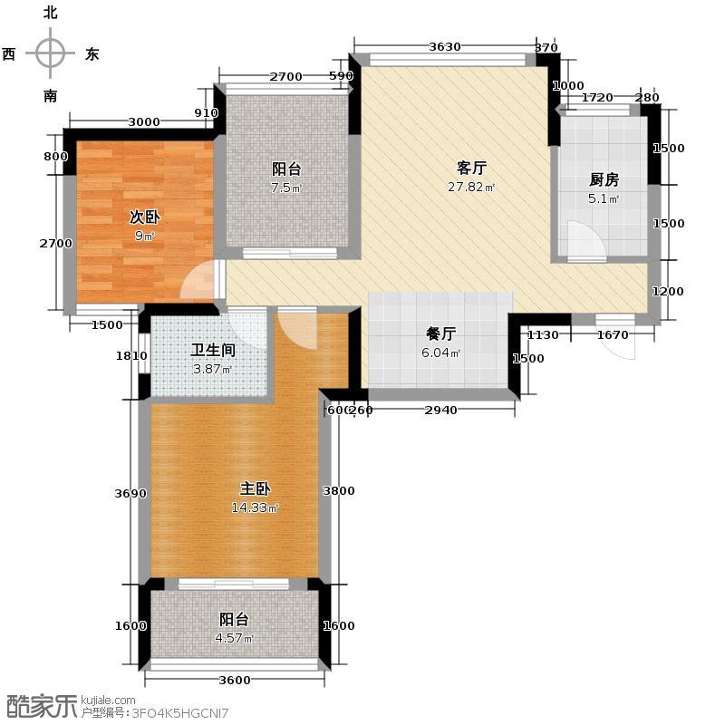 中信新城2.00㎡c2建筑面积约8907m2户型10室