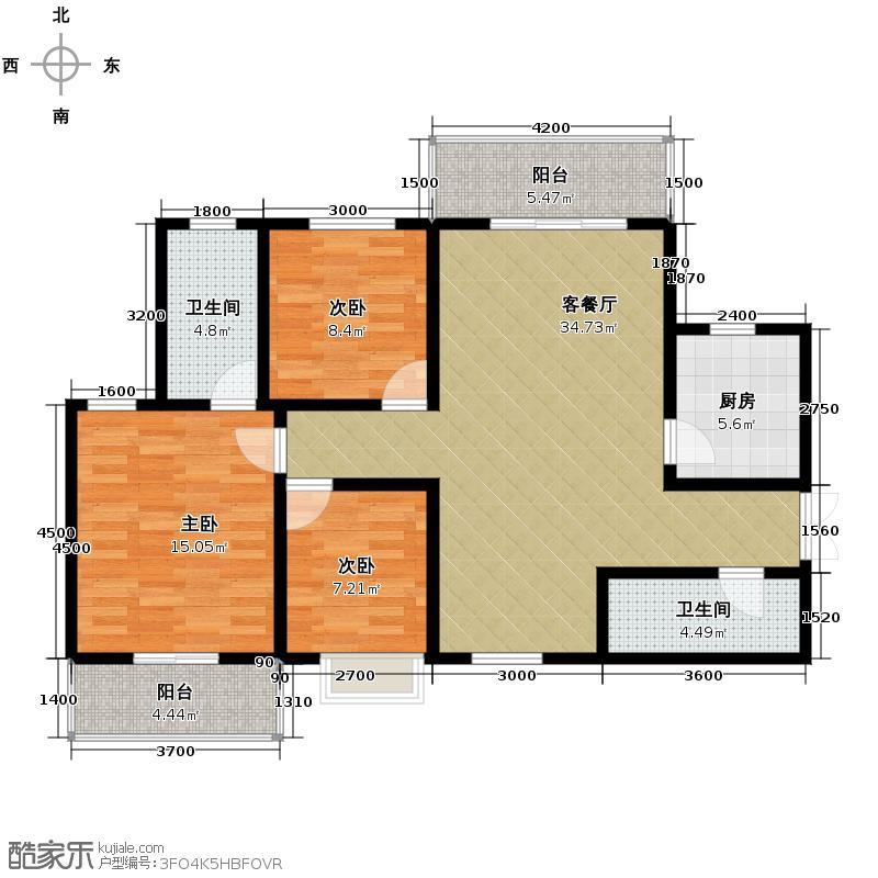 香缤国际城119.00㎡A户型3室2厅2卫