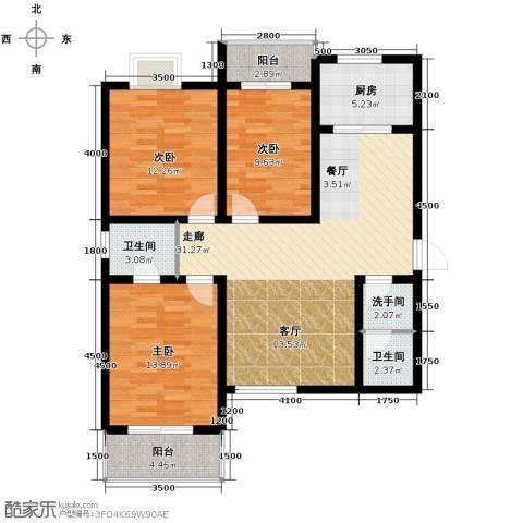 世融嘉城3室2厅2卫0厨127.00㎡户型图