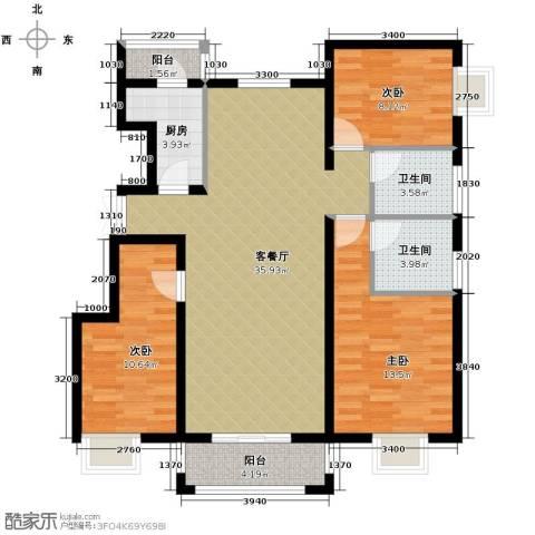 金润凤凰洲3室2厅2卫0厨123.00㎡户型图