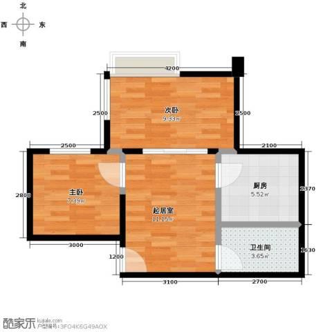 唐品A+2室0厅1卫1厨42.10㎡户型图
