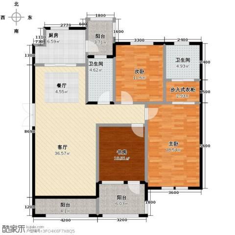 力旺塞歌维亚3室1厅2卫1厨154.00㎡户型图