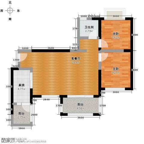 蒂梵尼TOWN2室2厅1卫0厨79.00㎡户型图