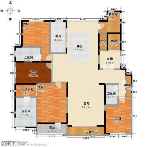 万科城峰汇4室1厅3卫1厨240.00㎡户型图