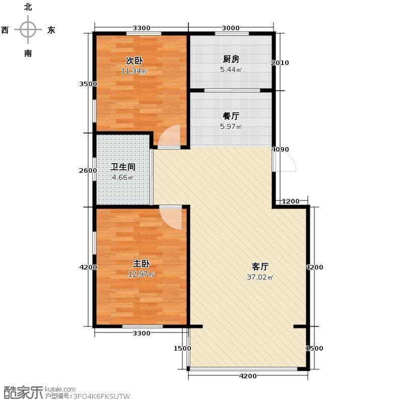 领秀朝阳76.23㎡户型10室