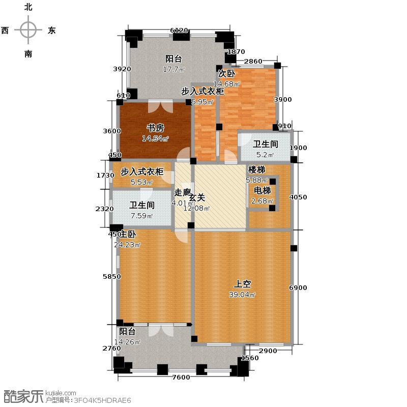 金茂梅溪湖122.00㎡别墅A2层户型10室