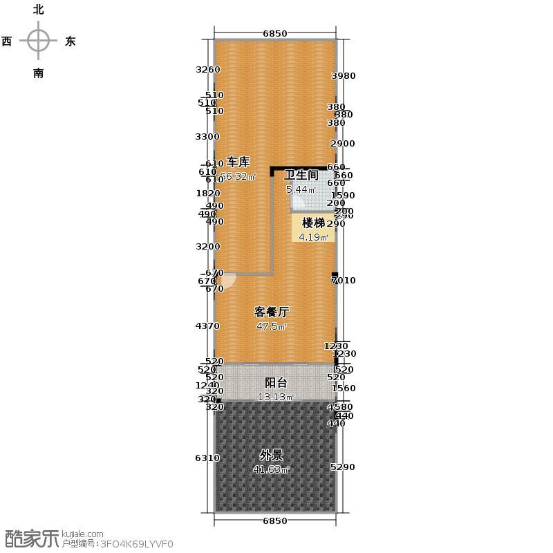 金科廊桥水乡269.00㎡H\'-首层花园平面图户型10室
