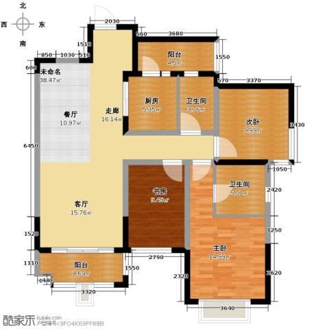 龙湖时代天街3室2厅0卫0厨114.00㎡户型图