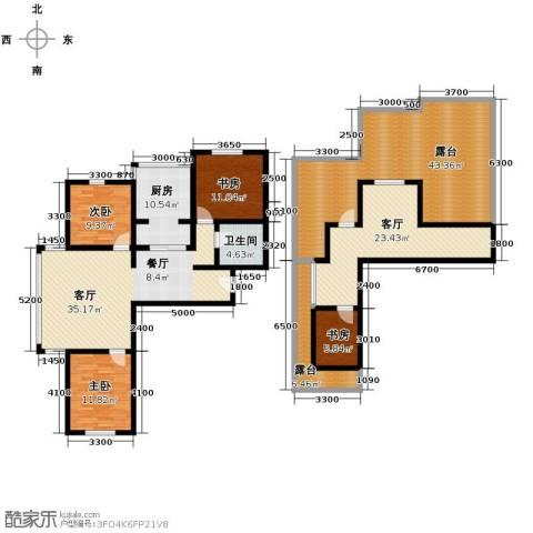 羽丰西江春晓4室2厅1卫1厨161.66㎡户型图
