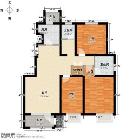 荔隆观邸3室2厅2卫0厨132.00㎡户型图