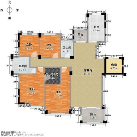 翡翠城丁香苑4室1厅2卫1厨148.00㎡户型图