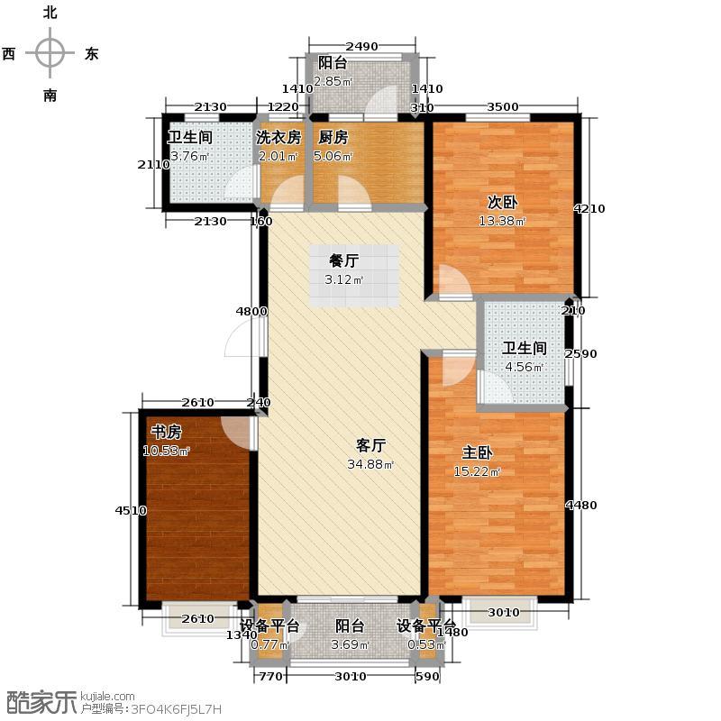 4号线孔雀大卫城109.14㎡D已售完户型3室1厅2卫1厨