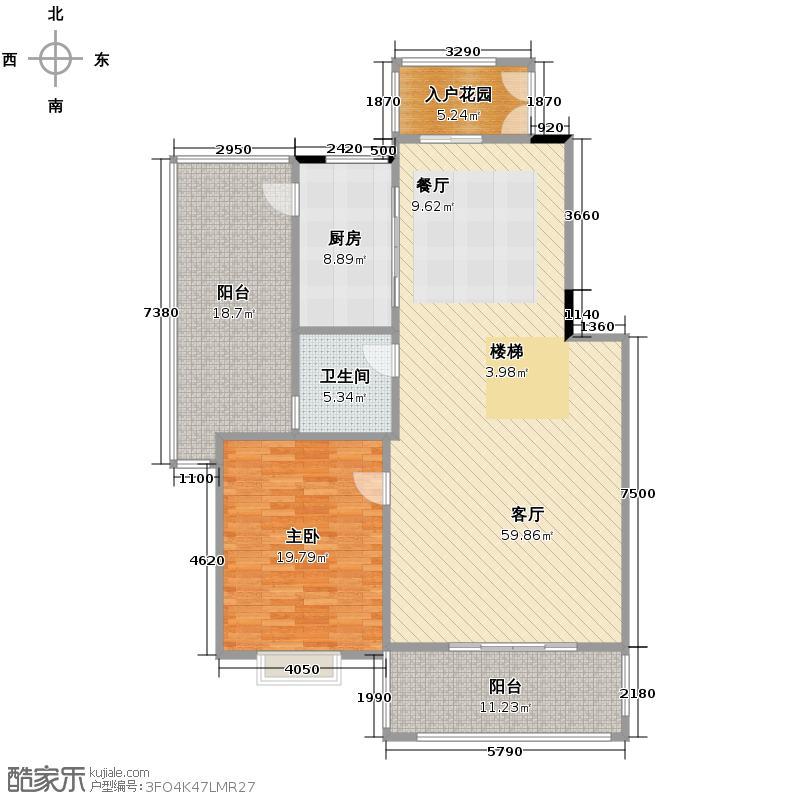 广州星河丹堤285.00㎡天御观邸一层户型1室1厅1卫1厨