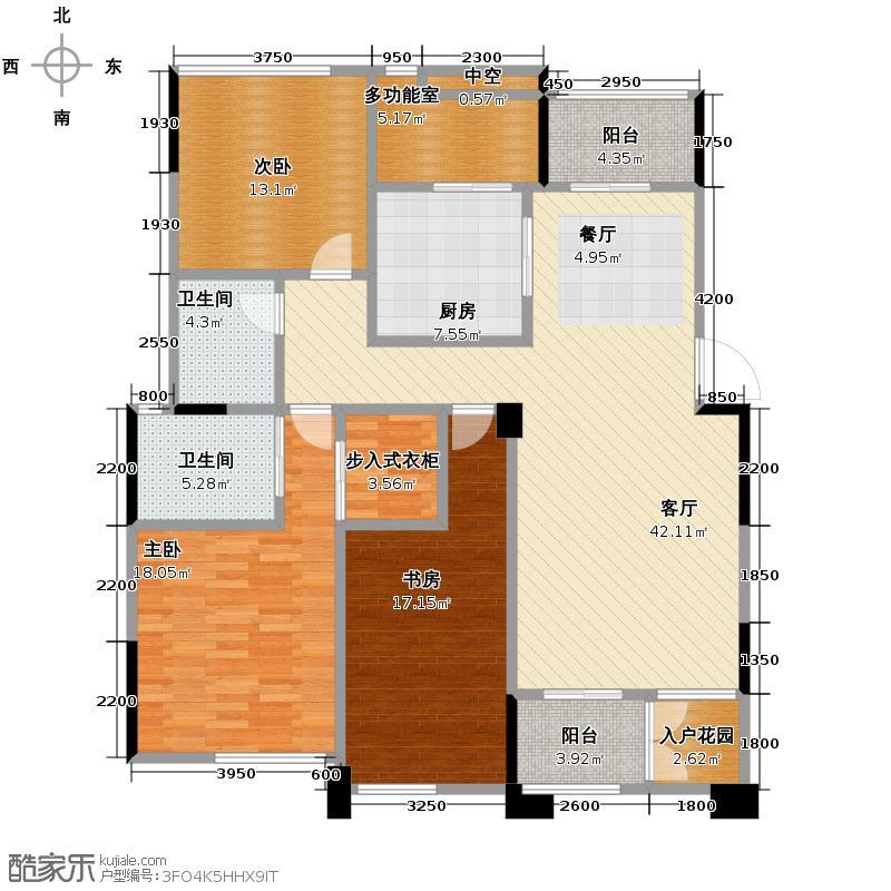 九龙仓御园168.00㎡B怡庭户型3室2厅2卫