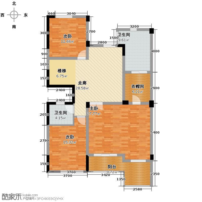 林隐天下294.00㎡别墅B2上层平面图+入户花园+阁楼+观景露台户型10室