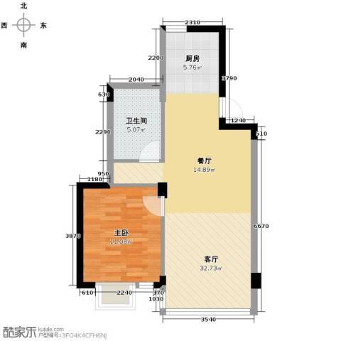 翡翠城丁香苑1室1厅1卫0厨68.00㎡户型图