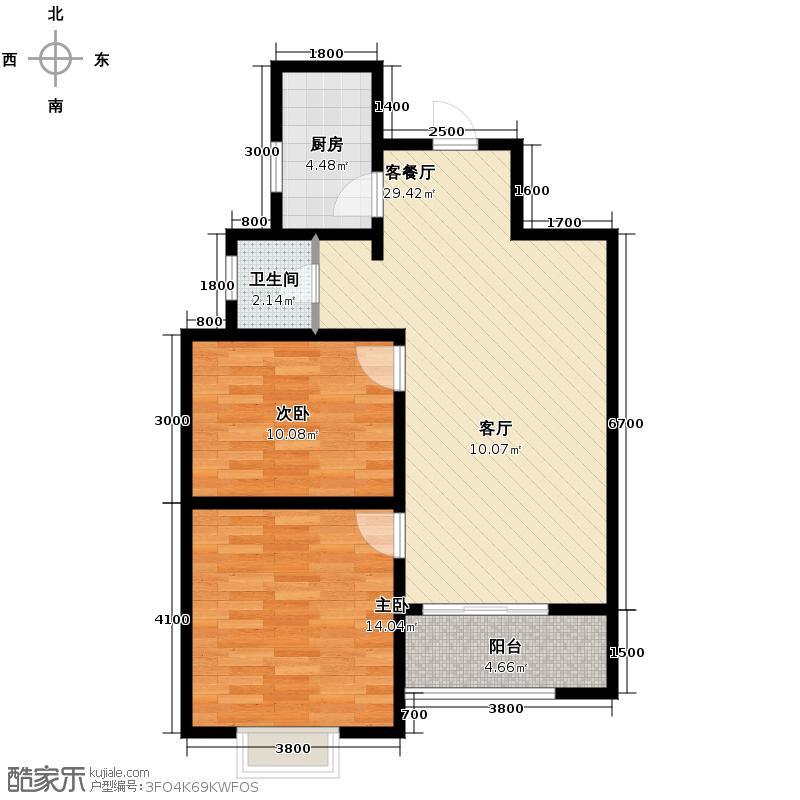 香缤国际城72.86㎡户型10室