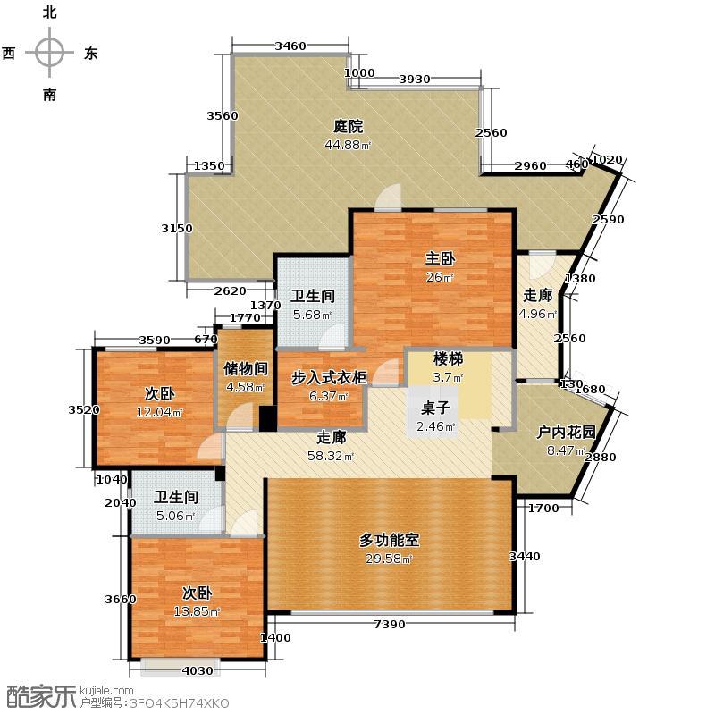 华置西锦城249.00㎡H上户型10室