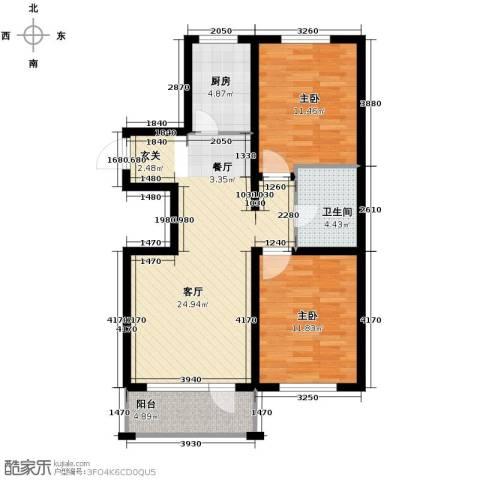 格林馨港湾2室2厅1卫0厨97.00㎡户型图