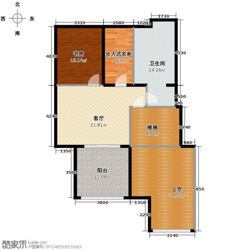 北京奥林匹克花园55.01㎡C1-SY上层户型10室
