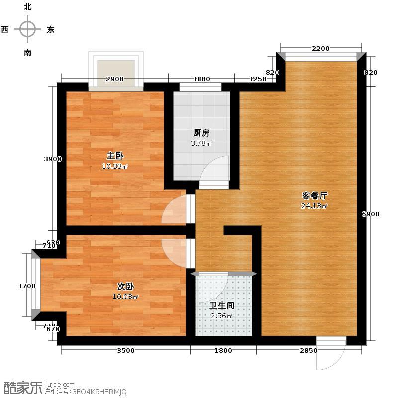 龙城铭园国际社区59.25㎡户型10室