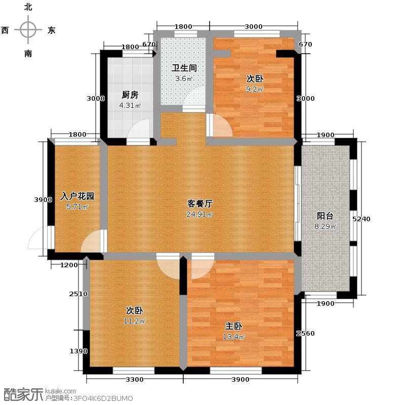 祥源公馆110.80㎡C户型3室2厅1卫