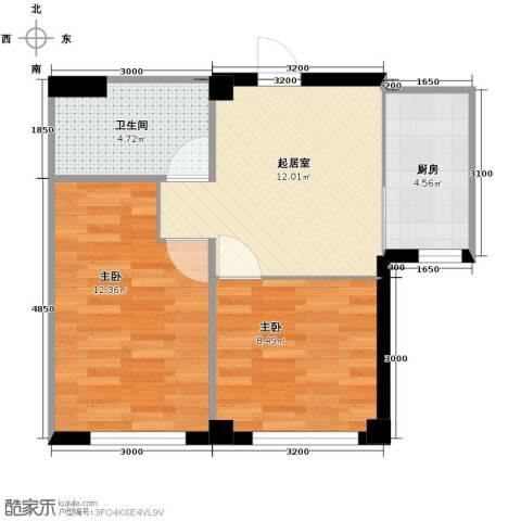 海天富地1室2厅1卫0厨56.00㎡户型图
