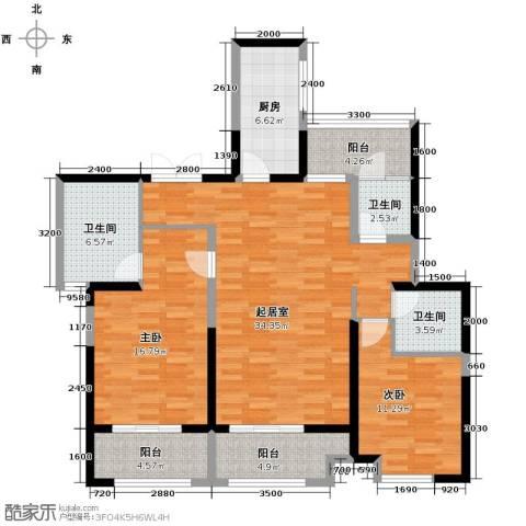 荣禾城市理想2室0厅3卫1厨132.00㎡户型图