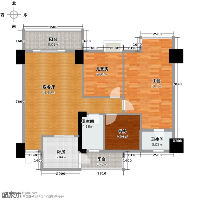 世博嘉园112.71㎡三期二座2-17层02单元户型3室2厅2卫