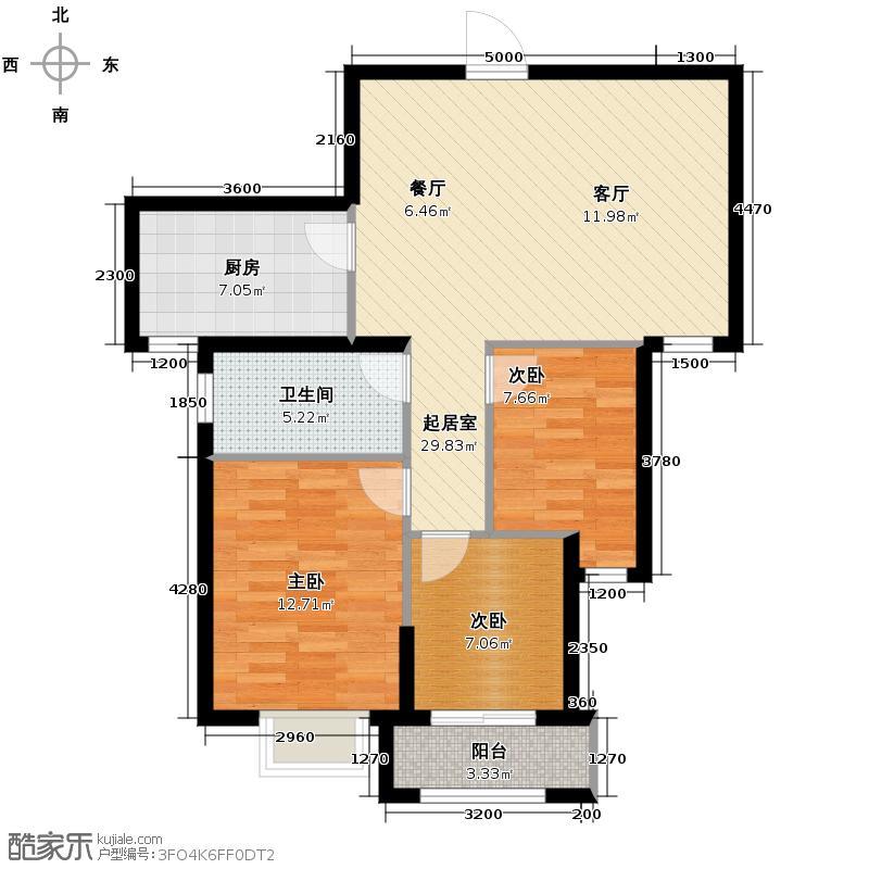 青林湾82.09㎡户型10室