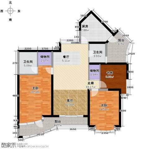 锦绣江南3室0厅2卫1厨129.33㎡户型图