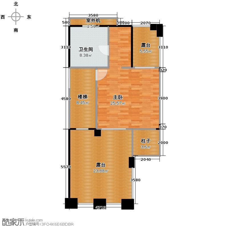 富力金港城223.00㎡标准单位01三层户型5室2厅