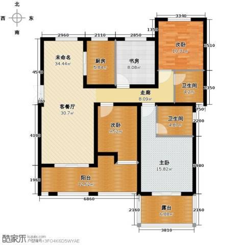 保利海上五月花4室0厅2卫1厨132.00㎡户型图