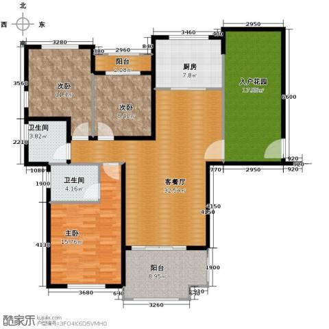 碧桂园滨湖城3室2厅2卫0厨120.00㎡户型图