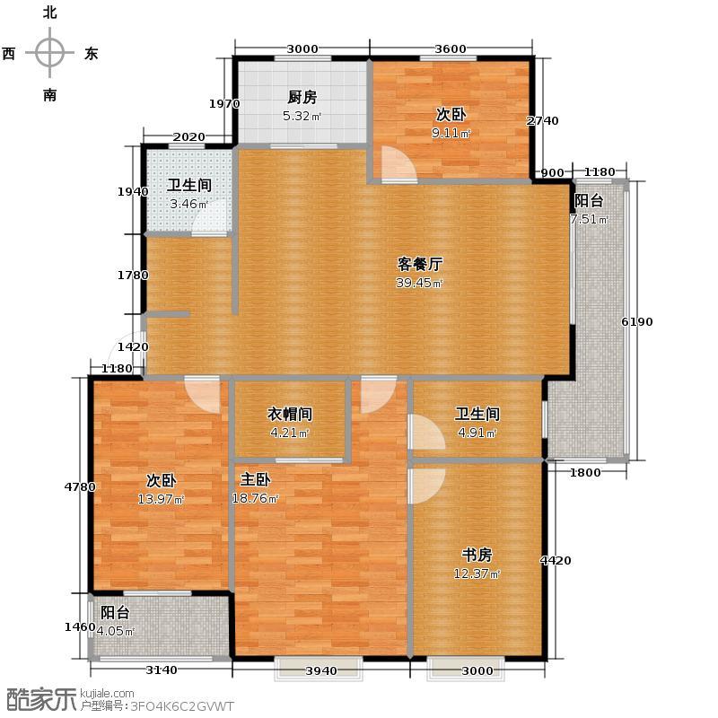 集美岸上蓝山139.80㎡B2户型4室2厅2卫