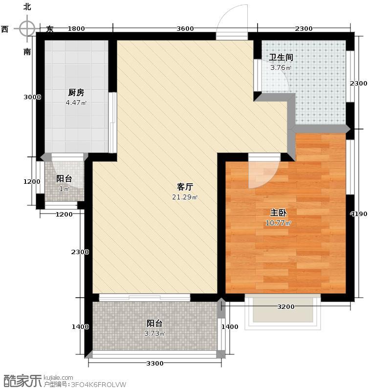 东田青年城51.86㎡户型10室