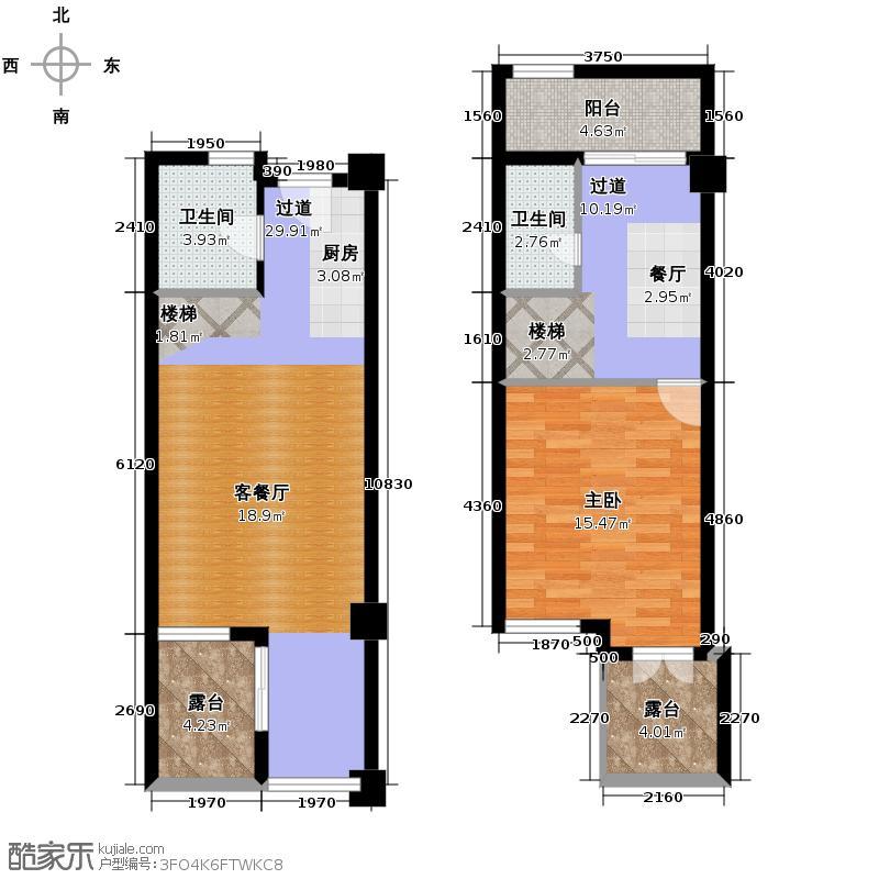 八十步海寓86.45㎡复式户型10室