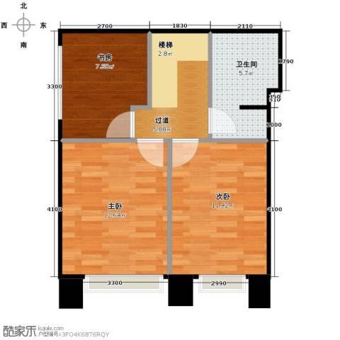星河1853室0厅1卫0厨59.00㎡户型图