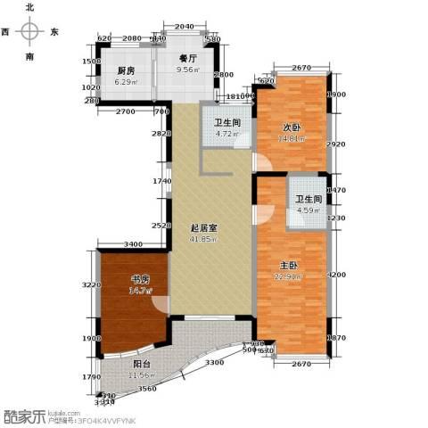 锦绣江南3室0厅2卫1厨136.92㎡户型图