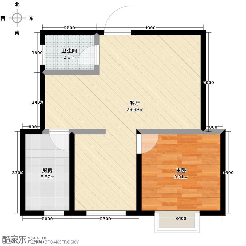 东田青年城52.68㎡户型10室