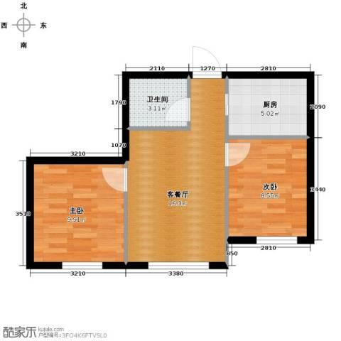 亿合城2室1厅1卫0厨73.00㎡户型图