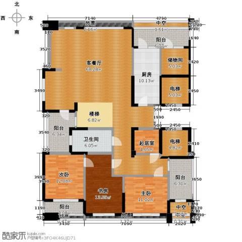 海威国际3室1厅1卫1厨347.00㎡户型图