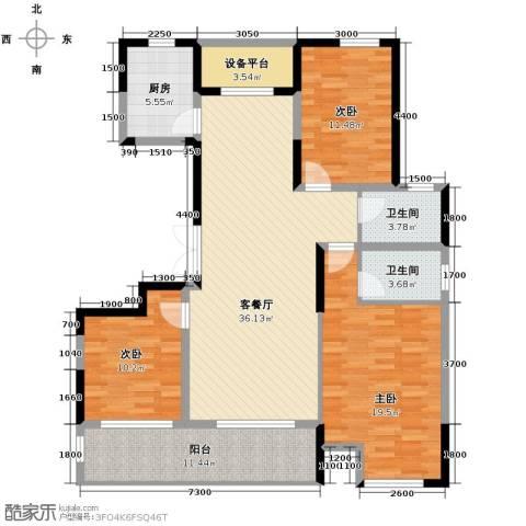 佳源名人公馆3室0厅0卫0厨136.00㎡户型图