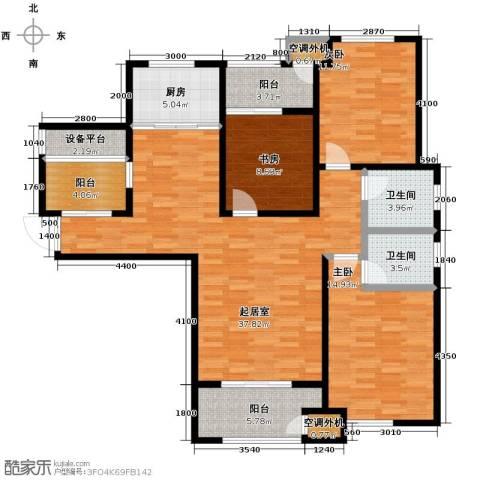 铂悦山3室2厅2卫0厨148.00㎡户型图