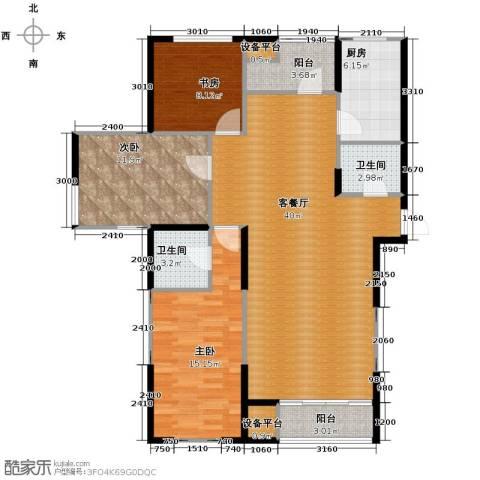 格调艺术领地3室2厅2卫0厨151.00㎡户型图